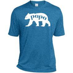 men's papa Bear Shirt Graphic Tee-01 TST360 Sport-Tek Tall Heather Dri-Fit Moisture-Wicking T-Shirt