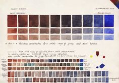 Jane Blundell: Watercolour Comparisons 4 - Burnt Sienna with Ultramarine Blue