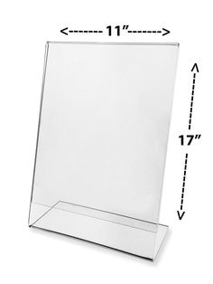 """Advertisement Frame Flyer Stand Display Counter Top Slant Back 11"""" x 17"""" Clear #MarketingHolders"""