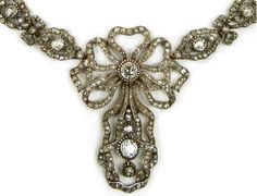 Detail - Antique diamond necklace, Cartier. Paris, circa 1905.  Via Diamonds in the Library.