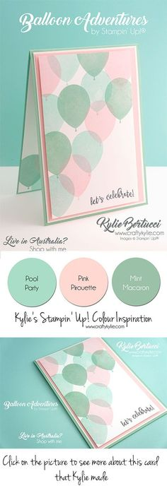 Kylie Bertucci - Global Design Project 079 Theme challenge. Balloon Adventures. Click on the image to see more about Kylie's card. #stampinup #cardmaking #handmadecard #rubberstamps #stamping #kyliebertucci #globaldesignproject #gdp079