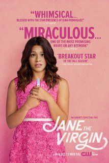 Jane the Virgin (2014)  Jane the Virgin is coming through repping for all the brown girls, but she is an amazing talent period. The show is just so unpredictable and engaging. Picture everything you ever wanted for an accidental pregnancy with a totally hot guy....who turns into your boss/lover....whose father is murdered by the  woman whose face keeps changing. LOL just watch it, de nada!