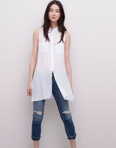 DIY: Men's XL shirt into a little girl's dress Camisa Boyfriend, Xl Shirt, Mode Jeans, Short Sleeve Dresses, Dresses With Sleeves, Long Sleeve, Clothing Labels, V Neck Blouse, Fashion Outfits