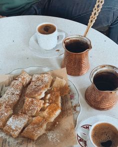 "• Joanna ⚡️ Ιωαννα • on Instagram: ""☀️🥮☕️"" French Toast, Bread, Coffee, Breakfast, Instagram, Food, Morning Coffee, Meal, Essen"