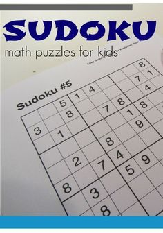 Help your kids build critical thinking and math skills with these FREE Sudoku puzzles for kids and families! It's  a fun educational game they can do during the summer that keeps their brain thinking! #teachmama #sudoku #educationalgame #freeprintable #games #criticalthinking #mathpuzzles #puzzles
