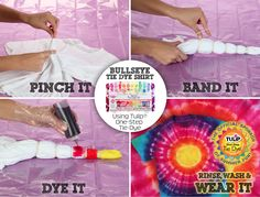 Father's Day is right around the corner. Make your favorite guy a one-of-a-kind bullseye shirt using Tulip One-Step Tie-Dye from @Jo-Ann Fabric and Craft Stores So easy and fun!