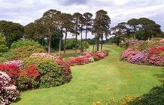 Gardens at Muckross House in Killarney National Park, County Kerry, Ireland
