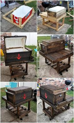 Crafting something increases our sense of productivity. Reusing wood pallet is economical as well environmentally healthy activity. It allows you to transform… Wooden Pallet Projects, Wooden Pallet Furniture, Lawn Furniture, Pallet Crafts, Wooden Pallets, Pallet Ideas, Wood Crafts, Furniture Cleaning, Pallet Wood