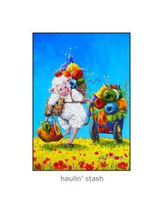 HAULIN' STASH signed knitting Sheep Incognito by SheepIncognito