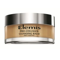 Elemis Pro-Collagen Cleansing Balm   This powerful treatment cleansing balm dissolves make-up and daily grime. Developed first and foremost for its performance in Elemis treatments, this super-cleansing, luxurious treatment balm is expertly formulated with a 100% active base of natural oils grown within the UK.  Combines precious starflower, elderberry and optimega™ oils with rose and mimosa waxes, and anti-ageing padina pavonica to deeply cleanse, nourish and smooth for a glowing complexion.