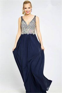 Jovani 20381 V Neck Jeweled Long Prom Gowns Sale