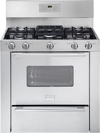 "36"" double oven/range- 6388287 Front Large.  Similar version by Kenmore Elite"