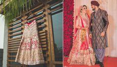 A heavily embroidered Gold Lehenga choli by Manish Malhotra for Bride Chandrilika of WeddingSutra. Photos Courtesy- Cupcake Productions