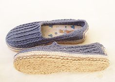 Lucent cord for shoe soles - crochet instructions