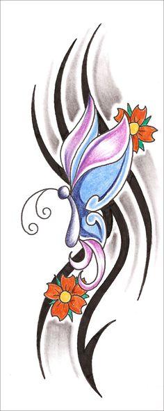 Tribal Butterfly Tattoo Tribal Butterfly Tattoo Design