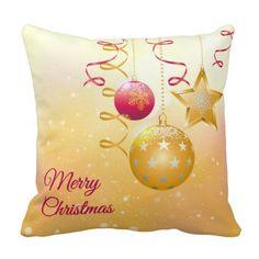 Shiny Christmas tree balls Pillow