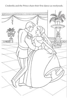 Cinderella Cleaning The Floor Disney Coloring Pages