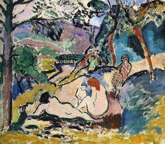 Pastoral Henri Matisse Date: 1905 Fauvism oil, canvas Henri Matisse, Matisse Art, Garden Painting, Painting & Drawing, Matisse Pinturas, Matisse Paintings, Oil Canvas, Oil Painting Reproductions, French Artists
