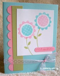 Polka dots and Pieces flowers by Onita76 - Cards and Paper Crafts at Splitcoaststampers