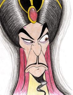 # 22 Jafar from Aladdin **** I also have many other Disney pics in my Disney series Gallery ~Ani Jafar Disney Sketches, Disney Drawings, Cartoon Drawings, Cool Drawings, Disney Character Drawings, Disney Animation, Animation Film, Aladdin Art, Aladdin 1992