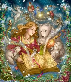 """""""The Book of Forever,"""" illustration by Laurel Long. """"The Legend of Holly Claus"""" is easily one of my favorite books."""