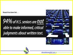 Want more stats and what to do about it? What Is Close Reading