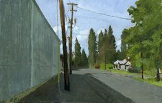 C St. Phoenix Oregon: Original Oil Painting Urban by SarahFBurns