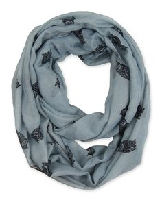 Corciova® Soft Animal Owl Printed Infinity Scarf Loop (Light Gray/Black Owl) at Amazon Women's Clothing store: