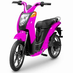 magenta electric bicycle, what can I say? I always wanted one.