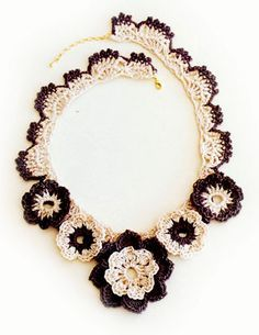 Crochet necklace ༺✿ƬⱤღ✿༻