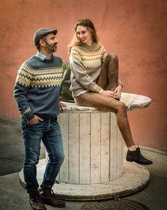 Norwegian unisex pullover sweater knitting pattern from Dale Garn Norwegian Men, Norwegian Knitting, Jumper Knitting Pattern, Fair Isle Knitting Patterns, Pullover Sweaters, Men Sweater, Knitting Sweaters, Retro Men, Lofoten