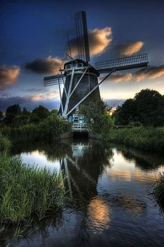 Windmill at the Amstelpark, Netherlands / *** Our Beautiful Planet... / via imgfave.com : misty Morrning