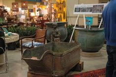 Your source for antique stone troughs, unique coppers, custom water features and millstones of all sizes up to four feet in diameter Copper Planters, Water Trough, Vaulting, Antique Copper, Water Features, Backyard, Antiques, Fountain, Stones