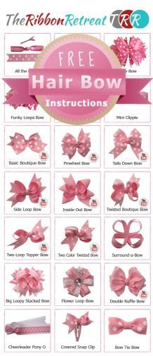 THE RIBON RETREAT is the best website to see tutorials on how to make different kinds of bows. i use this all the time