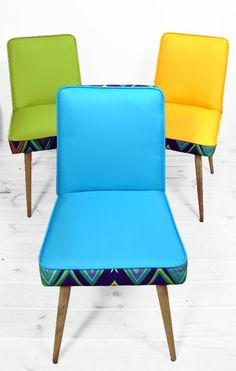 krzesło prl (zigzag) Arm Chairs, Upholstered Chairs, Accent Chairs, Dining Chairs, Vintage Chairs, Furnitures, Upholstery, Pillows, Beautiful