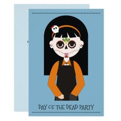#Day Of The Dead Party Invitations - #Halloween #happyhalloween #festival #party #holiday