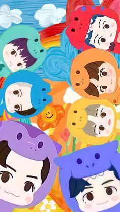 Kawaii Wallpaper, Cute Wallpaper Backgrounds, Cartoon Wallpaper, Cute Wallpapers, Iphone Wallpaper, Nct Group, Nct Album, Pop Art Illustration, Nct Dream Jaemin