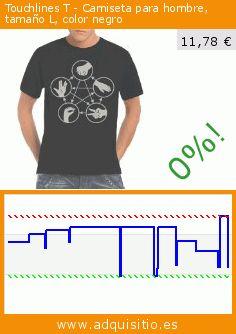 Touchlines T - Camiseta para hombre, tamaño L, color negro (Sports Apparel). Baja 52%! Precio actual 11,78 €, el precio anterior fue de 24,55 €. https://www.adquisitio.es/touchlines/t-camiseta-hombre-tama%C3%B1o-75