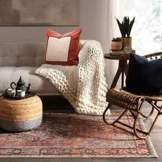 Brig on fall with cozy accessories and rugs! We're loving the warm earth tones and distressed vintage style pattern on the Wesleyan Rug in Rust/Gray.    #arearug #rugsale #vintagerugs #falldecor #earthtones #fallvibes #rugs #labordaysale #turkishrugs #redrugs #livingroomdecor #falldecorating #falldecorinspo #falldecorfeels #cozyhome Living Room Decor Inspiration, Area Rug Sizes, Rug Sale, Red Rugs, Earth Tones, Cozy House, Vintage Rugs, Fall Decor, Terra Cotta