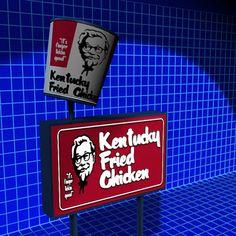 Kentucky Fried Sign 01 3D Model - 3D Model