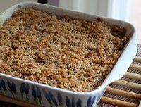 Rhubarb Crisp Recipe - A Rhubarb Crisp with Crunchy Topping