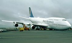 Ansett Australia, B747-300 VH-INH, Nose Gear Collapse