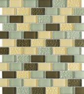 Vintrav Coffee Vanilla 1 in. x 2 in. Glass Mosaic Tiles