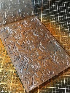 I hope you are having a fantastic week… I'm back today with a tutorial featuring another Sizzix Texture Fade…This time I'm using the Botanical that I m… Distress Oxides, Distress Ink, Blend Tool, Embossing Techniques, Nest Design, Mini Album Tutorial, Stamping Up, Rubber Stamping, 3d Texture