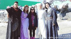 A few of the cast members from the Ice Fantasy drama.