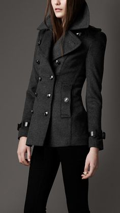 Ladies Portugal Black Wool Coat We are presenting stunning Ladies ...
