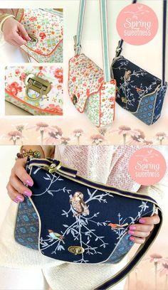 Free purse sewing pattern - cross body sewing tutorial.