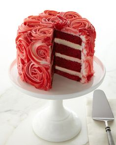 """Rose"" Red Velvet Cake - perfect for Valentine's Day! http://rstyle.me/n/egftknyg6"