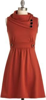 Tangerine dress from modcloth! Perfect for fall!