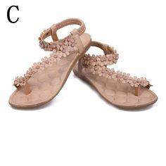 Roze Flip Flop Sandalen Met Bloemen